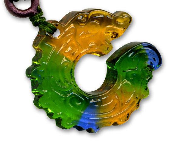 鹿港窯~居家開運水晶琉璃項鍊~圓融美滿 附精美包裝◆免運費送到家◆