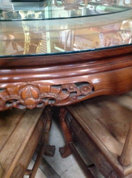 森寶藝品傢俱 8號店鋪 正老件 7尺花梨一桌十二椅