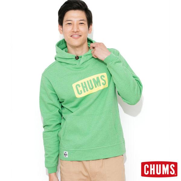 CHUMS 日本 男 INLAY LOGO 連帽刷毛套頭衫 葉綠 CH000646036