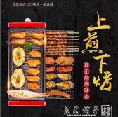 電燒烤爐110V現貨 大號 韓式家用不黏烤盤無煙烤肉機室內鐵板燒烤肉鍋多功能烤魚QM  時尚屋