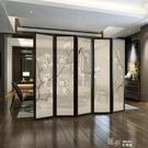隔斷客廳玄關實木辦公室簡約現代折屏半透明...