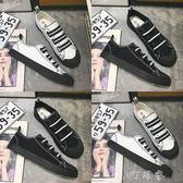 韓版潮流社會一腳蹬帆布鞋男秋季鞋子板鞋精神小伙懶人鞋 盯目家