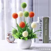 假花毛球模擬花客廳擺設插花花藝假花室內裝飾花盆栽擺件餐桌擺件艾美時尚衣櫥