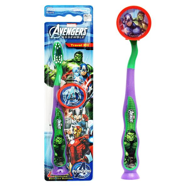 【美國 FIREFLY】AVENGERS單入兒童吸盤牙刷- Hulk(附刷蓋)