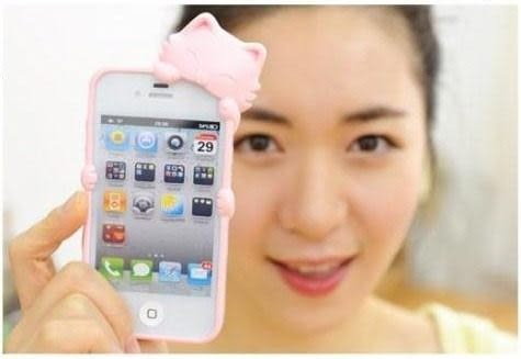 【世明國際】-出清㊕價-i4k3-蘋果IPhone4/4S可愛kiki趴趴貓保護套手機殼保護殼/手機套