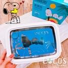 正版 史努比 SNOOPY 304不鏽鋼密封便當盒 不銹鋼 餐盒 藍色款 COCOS SN110