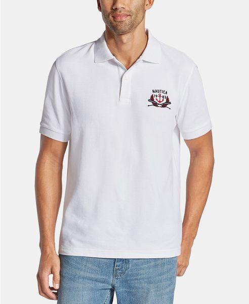 Nautica -Blue Sail系列經典款式馬球衫(白色)