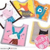 寶寶卡通動物印花方形口水巾 圍兜 方巾