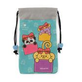 Miravivi 可愛動物狂想曲經典系列雙層束口袋-可愛禮物盒