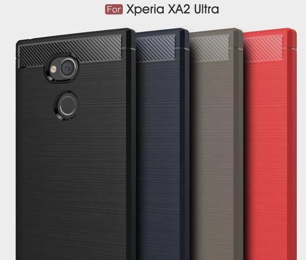 【SZ13】索尼Xperia XA1 Ultra手機殼 碳纖維拉絲 XA1手機殼 XA2 ultra手機殼 XA1 plus手機皮套