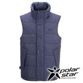 PolarStar 男 羽絨背心 │CNS 90/10羽絨 『深藍』P15253