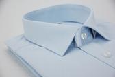 【金‧安德森】藍色對稱紋窄版長袖襯衫