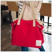 韓版俏麗女孩帆布包-共4色-A15151150-天藍小舖