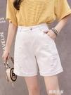 牛仔五分褲女寬鬆直筒短褲2020新款四5分夏季中褲外穿高腰顯瘦薄『潮流世家』