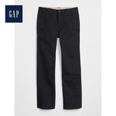 Gap男童基本款寬鬆斜紋棉布褲461042-海軍藍色