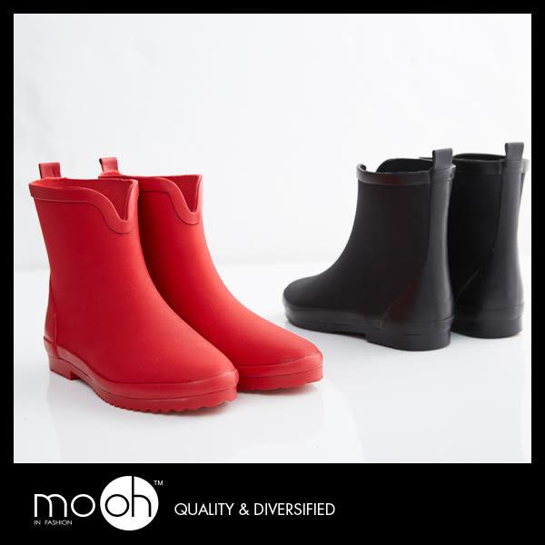 短筒雨鞋 V口潛水布輕量化柔軟防滑短筒 雨靴 紅色 黑色 mo.oh(歐美鞋款) 補貨中