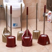 清潔刷帶底座不銹鋼馬桶刷潔廁刷清潔刷套裝衛生間長柄洗廁所刷子廁所刷 聖誕節