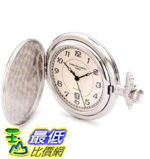 [美國直購] 手錶 Charles-Hubert, Paris 3923 Classic Collection Chrome Finish Brass Quartz Pocket Watch