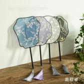 古風扇子中國風真絲圓扇子舞蹈扇夏季女士團扇 BF5194【旅行者】