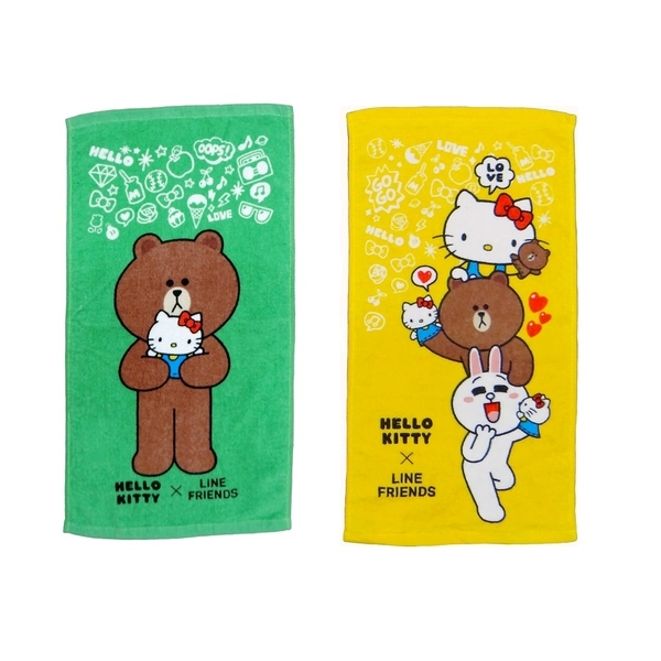 【Sanrio三麗鷗】Hello Kitty x Line童巾 100%棉 28x54cm