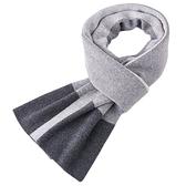 羊毛圍巾-針織簡約加厚保暖男披肩3色73wh36【時尚巴黎】