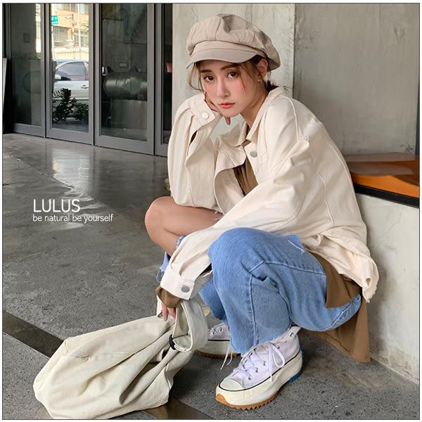 LULUS特價-Y多口袋斜紋寬鬆外套-4色【03190087】