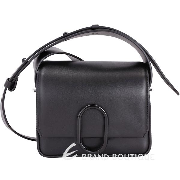 3.1 Phillip Lim Alix Flap 黑迴紋針造型斜背包(Mini/黑色) 1710992-01