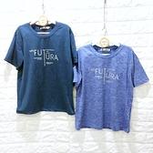 棒棒糖童裝(Z9990藍)男大童印花FUTURE藍色上衣 120-170