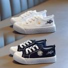 兒童帆布鞋春秋款2020新款小寶寶鞋春季女童鞋潮童板鞋男童小白鞋 韓語空間