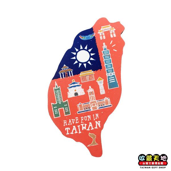 【收藏天地】寶島造型木質冰箱貼*台北景點 ∕ 磁鐵 觀光 禮品 愛國 景點 手信