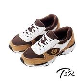 【韓國T2R】雙彈動力氣墊大底名牌款內增高休閒鞋 ↑6cm 咖啡色(5600-0170)