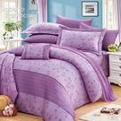 巴黎風情 40支棉七件組-6x6.2呎雙人加大-鋪棉床罩組[諾貝達莫卡利]-R7118-B
