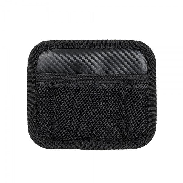 車之嚴選 cars_go 汽車用品【Fizz-1110】日本NAPOLEX 碳纖紋多功能黏貼式車內便利置物收納網袋
