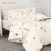 《竹漾》 100%精梳純棉單人床包被套三件組-四季花香