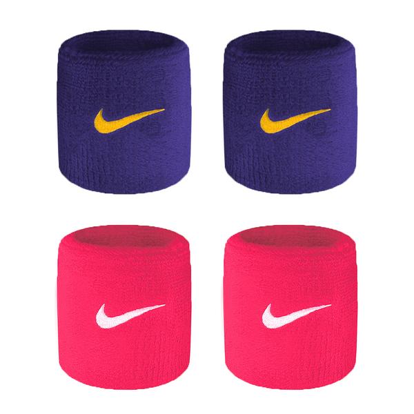 NIKE SwooSh 單色腕帶(慢跑 路跑 籃球 網球 羽球 一雙入 免運 ≡排汗專家≡