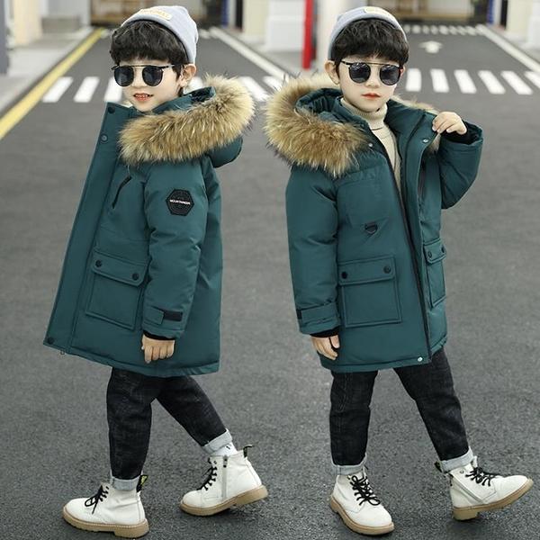 兒童裝男童冬裝棉衣2021年新款冬季棉襖外套洋氣羽絨棉服中大童潮 3C數位百貨