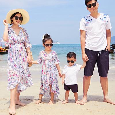 韓版浪漫民族風短袖上衣親子裝(女大人)