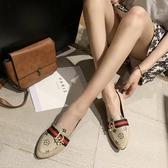 豆豆鞋女網紅2020新款百搭軟底軟皮一腳蹬小皮鞋夏季孕婦平底單鞋