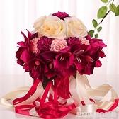 結婚手捧花婚慶韓式新娘仿真手捧花中式伴娘歐式森系用品婚禮花束