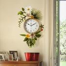 田園創意潮流美式客廳掛鐘錶北歐式簡約藝術時鐘家用掛錶