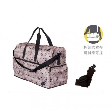 【HAPI+TAS】可摺疊收納旅行袋(H0004-293大-藍色海星貝殼)【威奇包仔通】