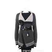 MARELLA  黑/白色點點毛料外套(不含腰帶) 1240305-37