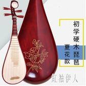 樂器紅木軸相硬木琵琶成人兒童民族彈撥初學入門 aj6800『紅袖伊人』