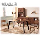 【德泰傢俱工廠】愛克斯工業生活4.3尺餐桌椅組 A010-D321