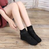 高筒成人兒童帆布爵士靴軟底舞蹈鞋新款練功鞋女現代舞鞋芭蕾舞鞋