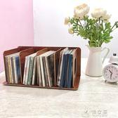 創意CD架子DVD光碟影片收納架木質收納展示架桌面光盤CD盒儲物柜 俏女孩