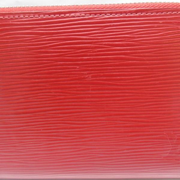LV 紅色EPI水波紋拉鍊長夾 M60304 【二手名牌 BRAND OFF】