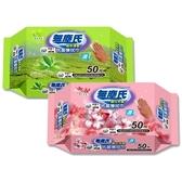 無塵氏 綠茶清香/櫻花芳香 抗菌擦拭巾(50抽) 款式可選 【小三美日】原價$99
