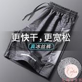 大碼運動短褲男速干褲寬鬆健身褲夏季薄款五分褲【大碼百分百】