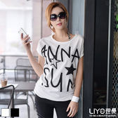 LIYO理優字母印花棉T恤622019